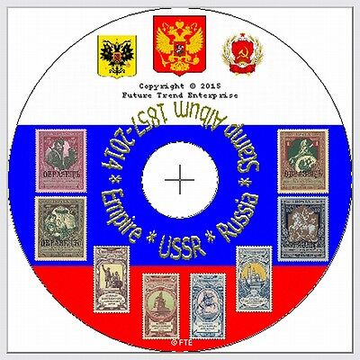 RUSSIA Stamp Album Pages on CD 1857-2015 - FREE postage