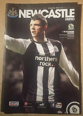 Newcastle United V Blackburn F.a.cup 3Rd Round,2012.nice Condition.st James Park