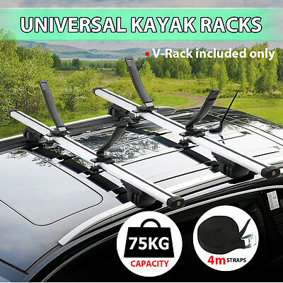 Universal Kayak Carrier Roof Racks Arm Canoe Loader Saddle Watercraft V Shape