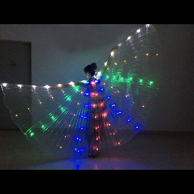 Led isis wings rechargeable belly dance club show lights Wings + sticks NEW