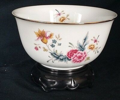 Avon Collectible American Heirloom Porcelain Bowl w Display Stand Vintage Mint