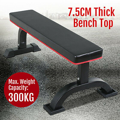 Fitness Flat Weight Bench Press Gym Strength Training Home Workout Exercise