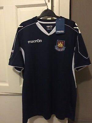 BNWT men's Macron West Ham navy blue training t-shirt, size medium