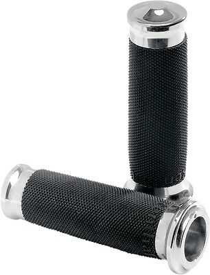 Performance Machine Contour Renthal Wrapped Grips Chrome 0063-2023-CH