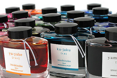 PILOT NAMIKI JAPAN Iroshizuku Fountain Pen Ink Bottle 50 ml INK-50