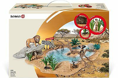 Schleich 42258 - Watering Hole Set with EXCLUSIVE ZEBRA - WILD LIFE -