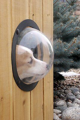 PetPeek Pet Puppy Dogs Window For Fence Gate House Acrylic Dome DIY Clear Door