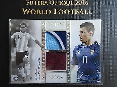 2016 Futera Unique Sergio Aguero dual patch 31/55 code unused Manchester City