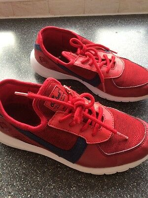 Boys Red Trainers Gym Play Shoes School Pe Kit Size 4
