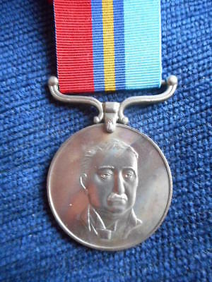 Victorian Medal Ribbon Buckle Silver Claw Type
