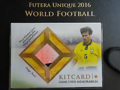 2016 Futera Unique Dunga Kit card 07/32 Brazil game used code unused