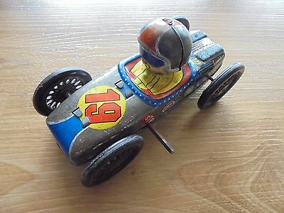 SPIN TURN RACER_Yone Tin Racing Car Made in Japan_USED_xx36_A2a97