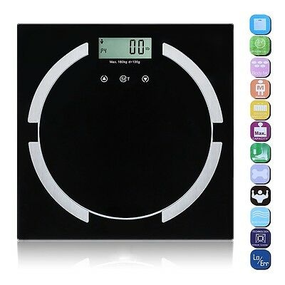 180KG Digital LCD BMI Calorie Body Bathroom Healthy Weighing Scale Weight Loss