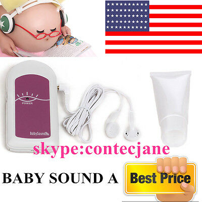 FDA CONTEC Ultrosonic Baby Heart Monitor Baby sound A, Free Gel, US Seller