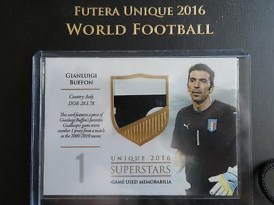 2016 Futera Unique Gianluigi Buffon superstars GU 35/59 Juventus code unused