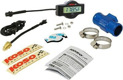 Koso North America EX-01 Water Temp Meter with Adapters 26mm Adapter and Clamps