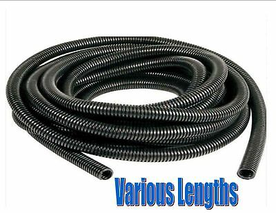 black spiral conduit tube pipe split audio TV PC cable wires tidy 6.5mm - 23mm
