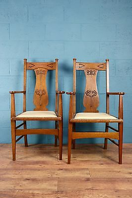 Set of 6 Arts and Crafts dining chairs (100417)