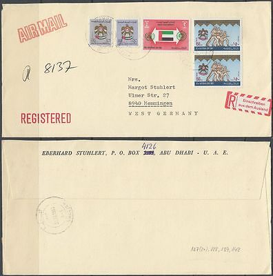 1980 UAE R-Cover SHARJAH to Germany [bl0094]