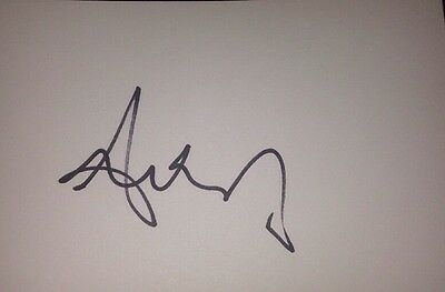 Andrea Corr Signed 6X4 White Card Music Autograph Pop The Corrs