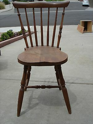 Antique Windsor Fanback English Side Chair Circa 1860 W/ Written Appraisal