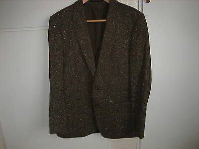 Mans 1970's Brown Tweed Blazer  Made In Germany By Greiffe