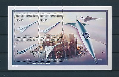 LF61835 Central Africa 1998 aviation aircraft airplanes sheet MNH