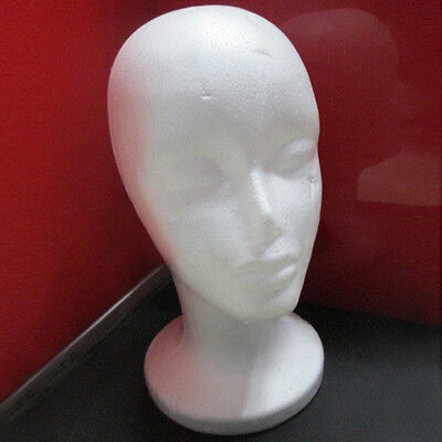 1PC Female Head Model Wig hair Hat Glass Display Styrofoam Foam Mannequin