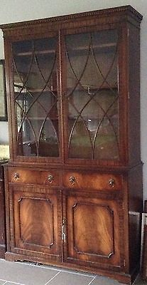 Flame Mahogany Glass Cabinet Display Unit
