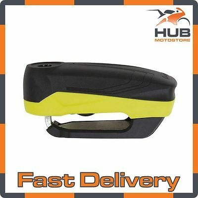 Abus Detecto 7000 RS 3 Motorcycle Motorbike Scooter Disc Lock Alarm - Yellow