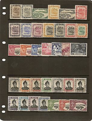 Brunei 1947-52 Kgvi Fine Used 1947-51 To $5, 1952 To $5 (34)