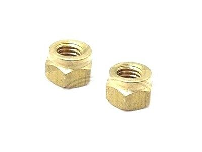 Lambretta Gp Li Sx Tv Brass Exhaust Nuts 2 Unit @cad