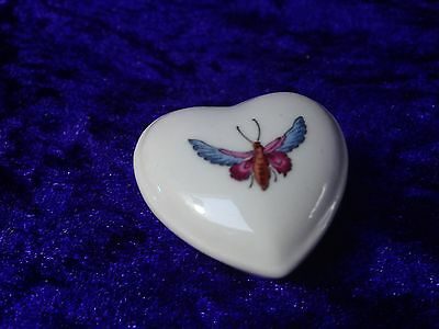 Spode TRAPNELL Miniature Heart Shape Pill Box