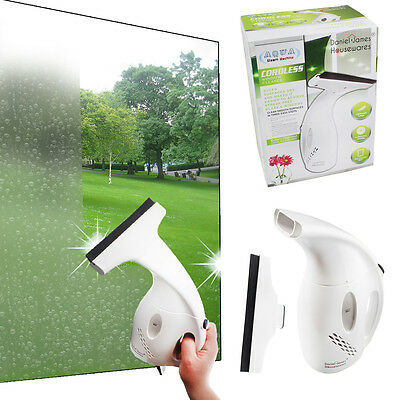 Window Cleaner Vac Vacuum Cordless Hand Held Squeegee Glass Mirror Tiles Shower