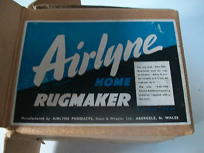 Vintage Boxed Airlyne Home Rug Maker For Use With Axminster Wool British Made