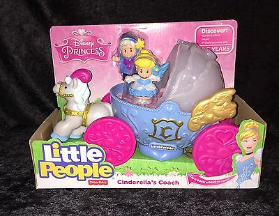 New!! Fisher Price Little People Disney's Princes Cinderella's Coach, snow white