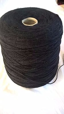 LOT 11 Bonnie black 4ply 554g full cone Hand or Machine Knitting Yarn on cone