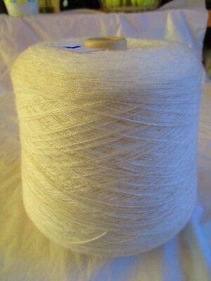LOT 20 White 4ply 100% acrylic  457g   Machine Knitting Yarn on Cone