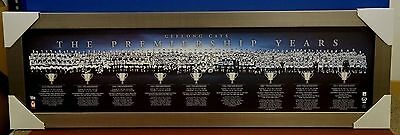 Geelong AFL The Premiership Years Montage Print Framed Ablett Bartel Selwood