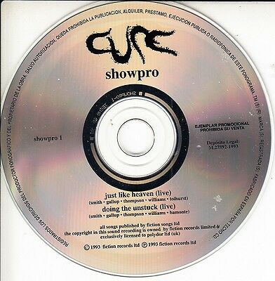 THE CURE Showpro - The ultr@r@re Spanish ONLY PROMO CD Spain 1993