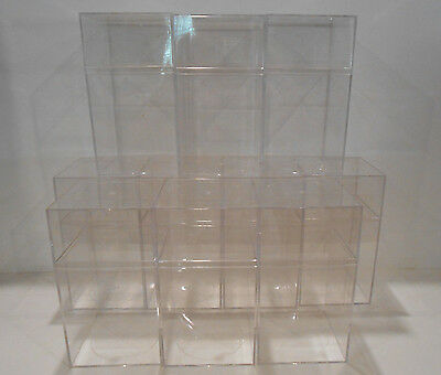 LOT of 10 Clear Acrylic Display Storage Cases GREAT For  Beanie Babies 7.25X4X4