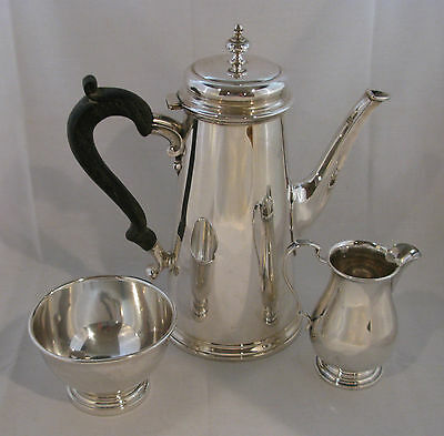 STERLING SILVER REPRODUCTION COFFEE SERVICE by GRAFF, WASHBOURNE
