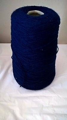 LOT 37 4ply 222g Navy 100% acrylic Hand or Machine Knitting Yarn on Cone