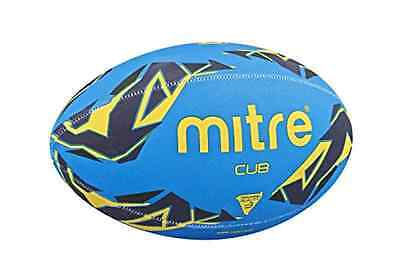 Mitre Cub Training Rugby Ball Blue/Navy/Yellow Size 3 High Graphic Organic Shape