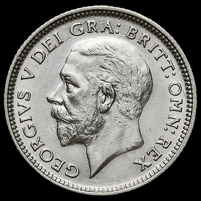 1926 George V Silver Sixpence, Third Coinage, Scarce, A/UNC #2