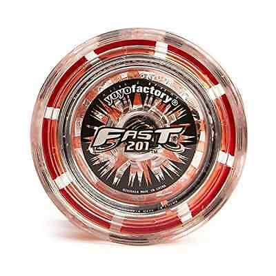 YoyoFactory Fast 201 Yo-Yo Red Stainless Ball-Bearing For Super Long Spins New