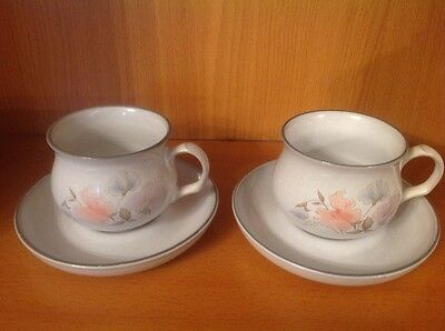 Denby Encore tea cups and saucers x 2