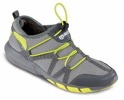 MARES  MEN'S Fast Drain WATER AQUA TRAINERS Beach SHOES - GREY YELLOW