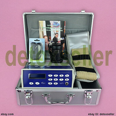 Detox Machine Cell Ion Ionic Foot Bath Spa Chi Fir Belt Free Dhl Shipping