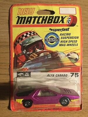 Matchbox Superfast With Blister Pack ALFA CARABO No 75